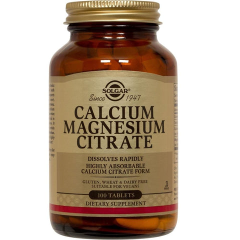 Solgar Calcium Magnesium Citrate 100 Tablets, Supplement, Solgar - kindgrocer