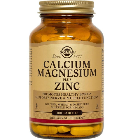 Solgar Calcium Magnesium Plus Zinc 100 Tablets, Supplement, Solgar - kindgrocer