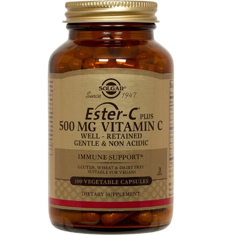Solgar Ester-C Plus 500mg Vitamin C 100 Vegetable Capsules, Supplement, Solgar - kindgrocer