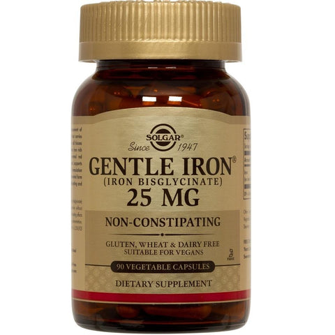 Solgar Gentle Iron 25mg 90 Vegetable Capsules, Supplement, Solgar - kindgrocer