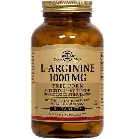 Solgar L-Arginine 1000mg 90 Tablets, Supplement, Solgar - kindgrocer
