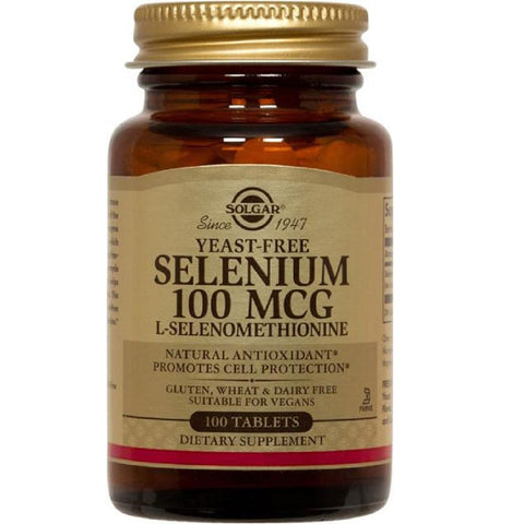 Solgar Yeast-Free Selenium 100mcg 100 Tablets, Supplement, Solgar - kindgrocer