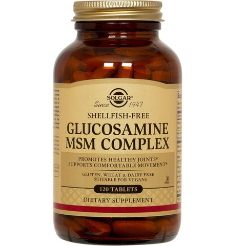 Solgar Glucosamine MSM Complex 120 Tablets, Supplement, Solgar - kindgrocer