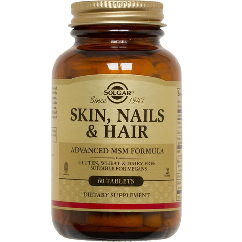 Solgar Skin, Nails & Hair Advanced MSM Formula 60 Tablets, Supplement, Solgar - kindgrocer