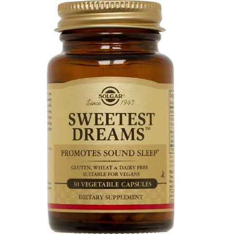 Solgar Sweetest Dreams 30 Vegetable Capsules, Supplement, Solgar - kindgrocer