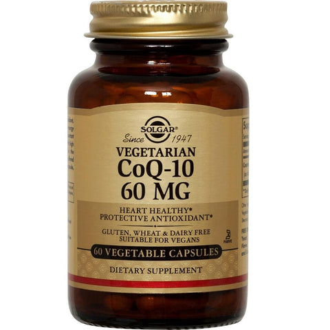 Solgar CoQ-10 60mg 60 Vegetable Capsules, Supplement, Solgar - kindgrocer