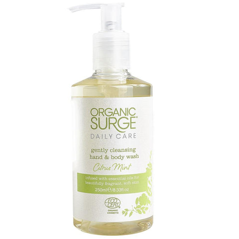 Organic Surge Citrus Mint Hand & Body Wash 250ml, Body Wash, Organic Surge - kindgrocer