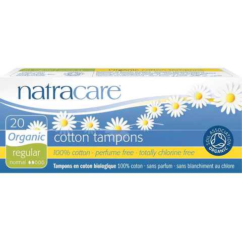 Natracare Organic Cotton Tampons - Regular 20pcs, Tampons, Natracare - kindgrocer