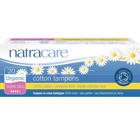Natracare Organic Cotton Tampons - Super Plus 20pcs, Tampons, Natracare - kindgrocer