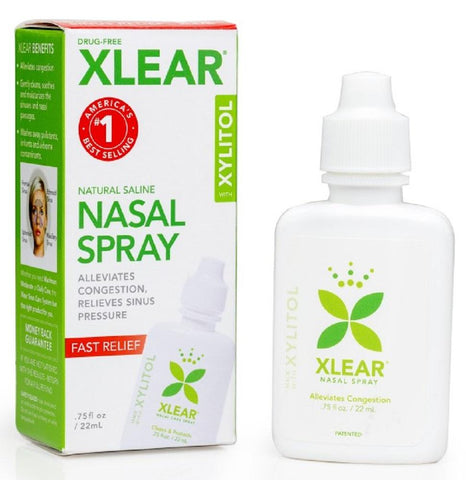 Xlear All-Natural Saline Nasal Spray Made with Xylitol 22ml (Daily Care), Nasal Spray, Xlear - kindgrocer
