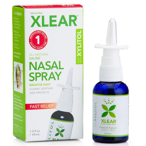 Xlear Natural Saline Nasal Spray 45ml, Nasal Spray, Xlear - kindgrocer