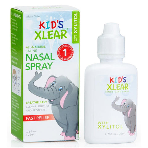 Xlear Kid's Natural Saline Nasal Spray 22ml, Nasal Spray, Xlear - kindgrocer