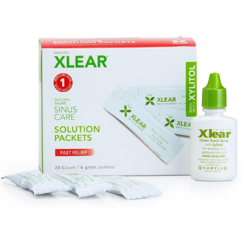 Xlear Natural Xylitol & Saline Sinus Care Solution Packets 20 packets, Sinus Care Solution, Xlear - kindgrocer