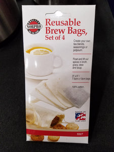 Reusable Brew Bags - 4pk Made in USA