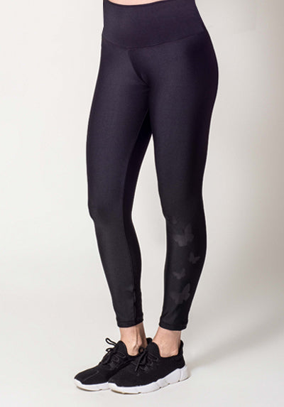 INFINITY BLACK BUTTERFLIES LEGGING