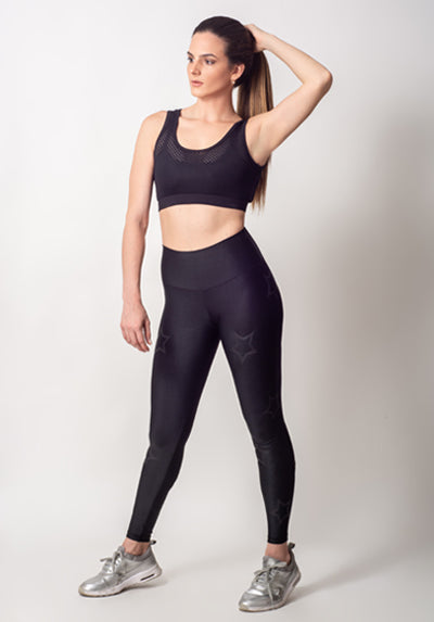BLACK OUTLINE STARS LEGGING