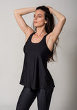 Black Open Back Tank Casual Activewear