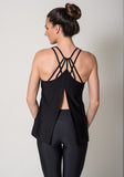Black Open Back Tank Casual Activewear View2