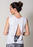 White Open Back Tank Athleisure