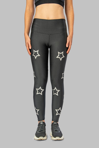 SILVER OUTLINE STARS LEGGING