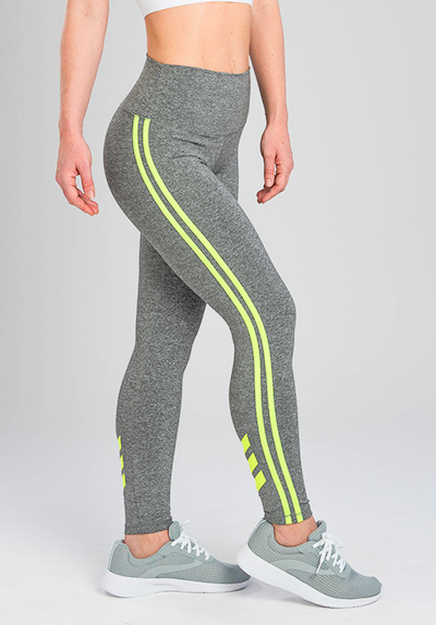 INFLUENCE NEON YELLOW CHEVRON LEGGING