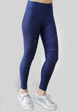 Laser Cut Blue Leggings