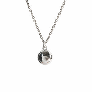 Pendant - Silver Ball - Polished Brass