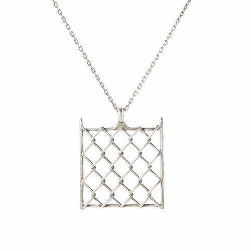 Pendant - Chainlink Small - Polished Silver