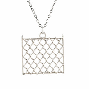 Pendant - Chainlink Large - Polished Silver