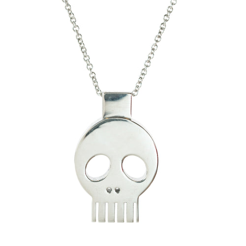 Pendant - Skull - Polished Brass