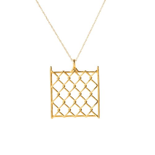 Pendant - Chainlink Small - Gold-plated Brass