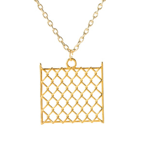 Pendant - Chainlink Large - Gold-plated Brass