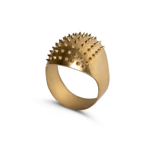 Ring - Little Porcupine - Polished Brass
