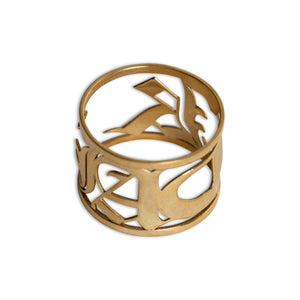 Ring - Medieval Charm - Polished Brass