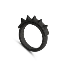 Ring - The Spiker - Raw Black Steel