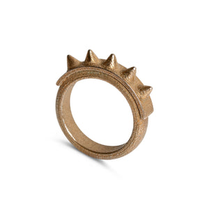 Ring - The Spiker - Raw Brass