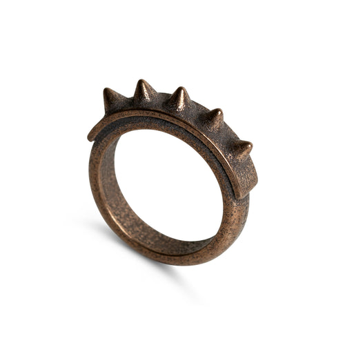 Ring - The Spiker - Raw Bronze