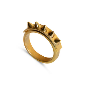 Ring - The Spiker - Polished Brass