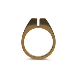 Ring - Mooncatcher - Polished Brass