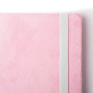 Pink Faux Suede Notebook