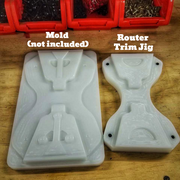 kydex handcuff carrier mold Jig