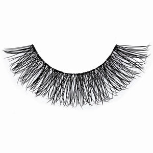 Natural eyelashes with flexible, invisible band