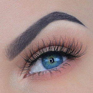 Natural eyelash with clear band