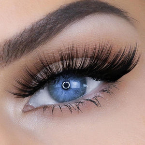 Fluffy faux mink eyelash with flexible cotton band for comfortable wear