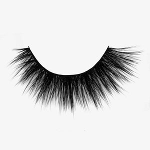 Wispy faux mink eyelash with thin comfortable band