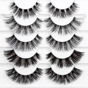 Eyelash multipack with wispy, voluminous lashes