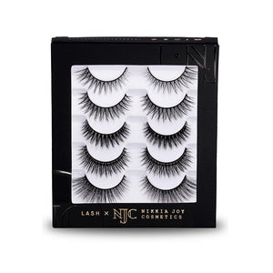 Natural eyelashes for small eyes and wearing under glasses