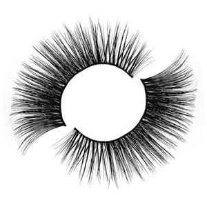 Cruelty free faux mink eyelash with thin, comfortable band