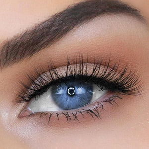 Natural, wispy eyelashes for small or hooded eyes