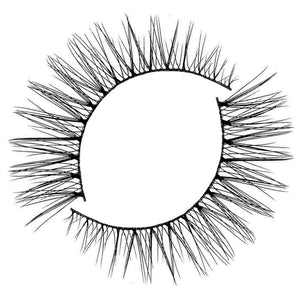 Natural wispy eyelash for small eye shapes and for wearing under glasses